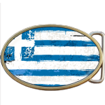 Greek Grunge Greece Flag Belt Buckle. Code A0028